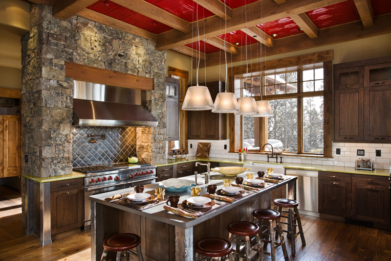 attractive mountain home kitchens #5: Beartrap Residence ...